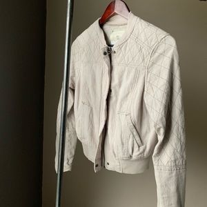 Anthropologie quilted bomber jacket